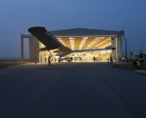 The Mission begins! HB-SIA is getting out the hangar for it's first leg Payerne-Madrid © Solar Impulse   F. Merz