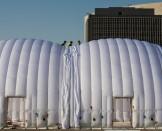 Test de Hangar Mobile à Abu Dhabi   Solar Impulse   Stefatou   Rezo.ch