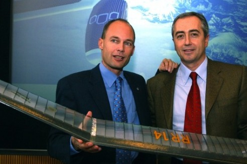 Bertrand Piccard, Stefan Catsicas (EPFL Research Director, 2003)